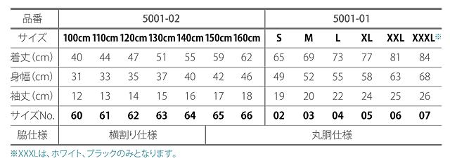 5001-01 5.6オンス Tシャツ BIGFACE